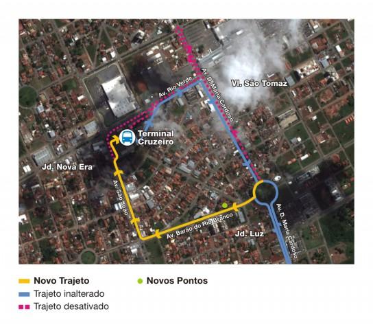 Mapa da linha 277