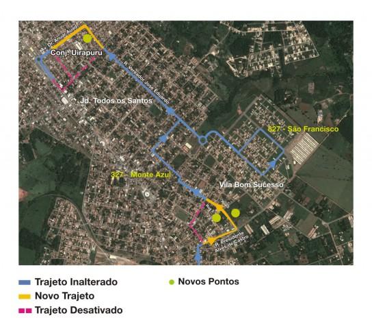 Mapa da linha 327