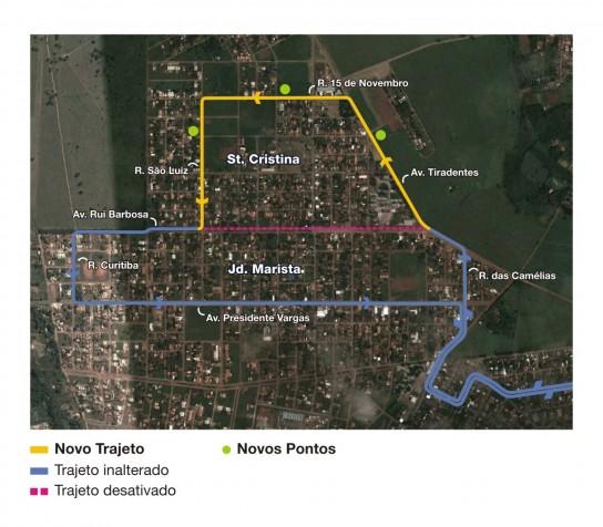 Mapa da linha 703