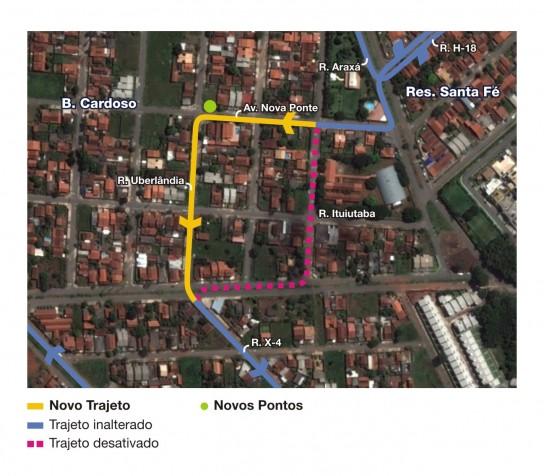 Mapa da linha 592