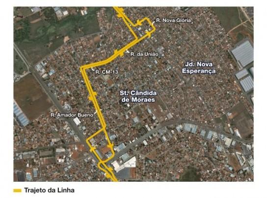 Mapa da linha 036
