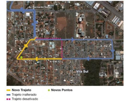 Mapa da linha 183
