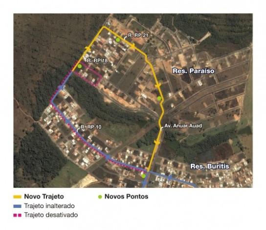 Mapa linha 335