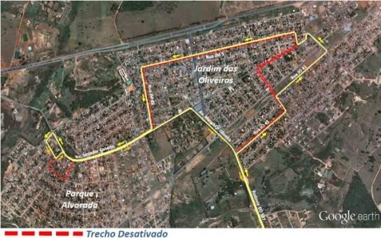 mapa de canedo Quatro linhas têm trajeto alterado em Senador Canedo | Blog Rmtc  mapa de canedo