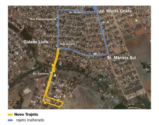 Mapa da linha 525