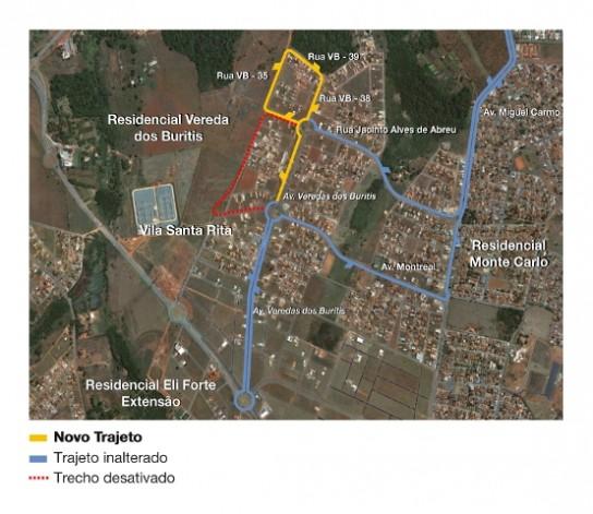 Mapa da linha 575