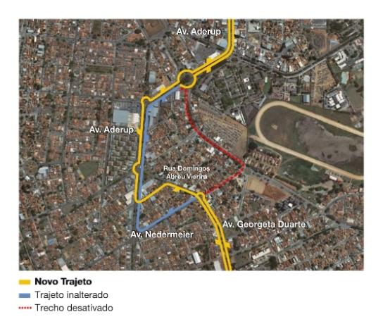 Mapa da linha 005
