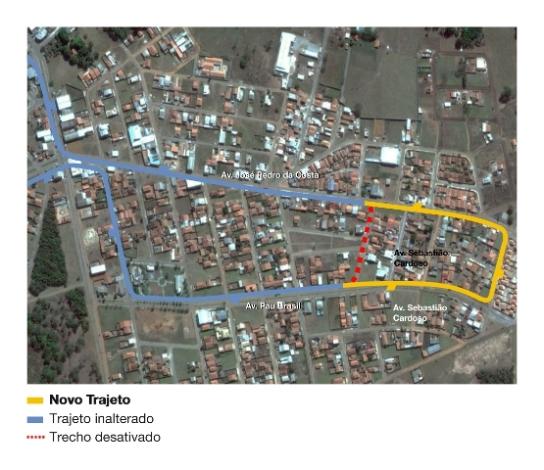 Mapa da linha 156