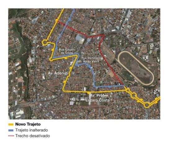 Mapa da linha 169