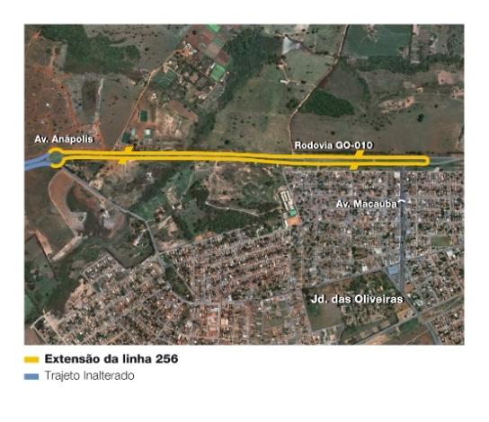 Mapa da linha 256