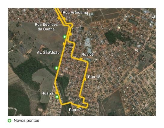 Mapa da linha 312